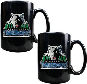 NBA Timberwolves Black Ceramic Mug Set of 2