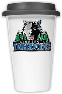 NBA Timberwolves Ceramic Cup with Black Lid