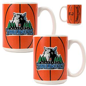 NBA Minnesota Timberwolves GameBall Mug (Set of 2)