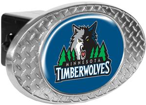 NBA Timberwolves Diamond Plate Hitch Cover