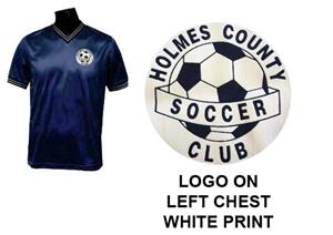 Pre-Numbered NAVY Soccer Jerseys w/WHITE #s/logo