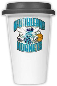 NBA New Orleans Hornets Ceramic Cup with Black Lid