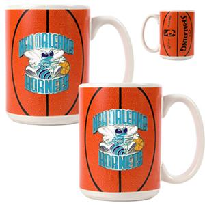 NBA New Orleans Hornets GameBall Mug (Set of 2)