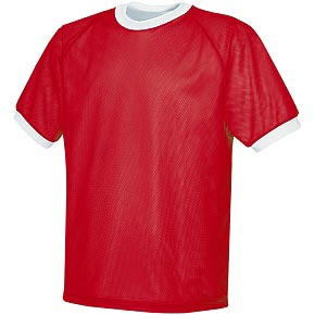 Pre-#ed REVERSIBLE Soccer Jerseys RED w/BLK #s
