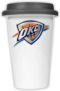 NBA Oklahoma Thunder Ceramic Cup with Black Lid