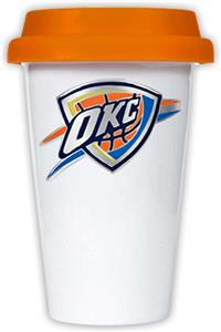 NBA Oklahoma Thunder Ceramic Cup with Orange Lid