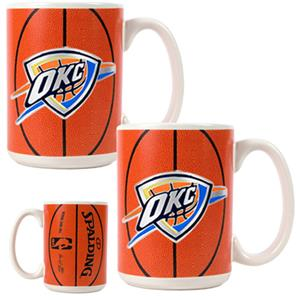NBA Oklahoma Thunder GameBall Mug (Set of 2)