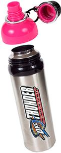 NBA Oklahoma Thunder Water Bottle w/Pink Top