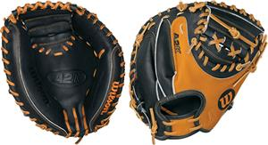 "A2K Pudge Leather 32.5"" Catchers Baseball Mitt"