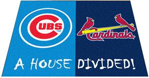 Fan Mats Cubs/Cardinals House Divided Mats