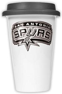 NBA San Antonio Spurs Ceramic Cup with Black Lid