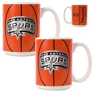 NBA San Antonio Spurs GameBall Mug (Set of 2)