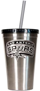 NBA Spurs 16oz Stainless Tumbler w/Straw