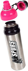 NBA San Antonio Spurs Water Bottle w/Pink Top