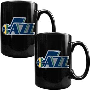 NBA Utah Jazz Black Ceramic Mug Set of 2