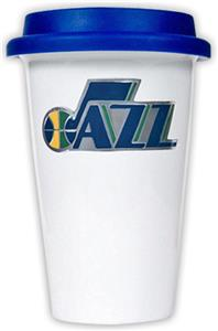 NBA Utah Jazz Ceramic Cup with Blue Lid