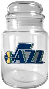 NBA Utah Jazz Hornets Glass Candy Jar