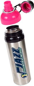 NBA Utah Jazz Water Bottle w/Pink Top