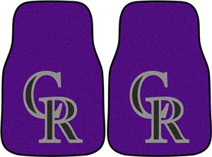 Fan Mats Colorado Rockies Carpet Car Mats