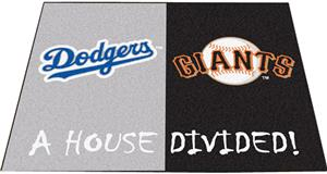 Fan Mats Dodgers/Giants House Divided Mats