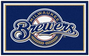 Fan Mats Milwaukee Brewers 4' x 6' Rugs