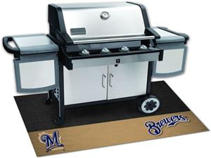Fan Mats Milwaukee Brewers Grill Mats