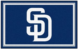 Fan Mats San Diego Padres 4' x 6' Rugs