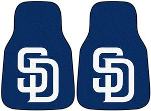 Fan Mats San Diego Padres Carpet Car Mats