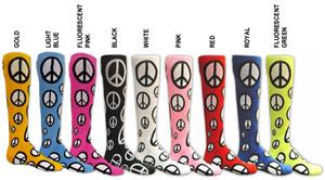 Red Lion Peace Sign athletic socks