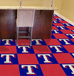 Fan Mats MLB Texas Rangers Carpet Tiles