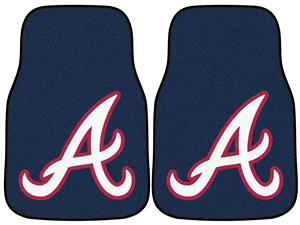 Fan Mats Atlanta Braves Carpet Car Mats