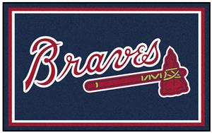 Fan Mats Atlanta Braves 4' x 6' Rugs