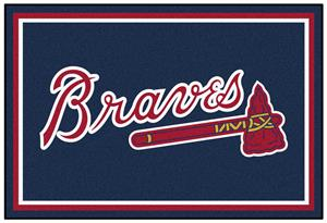 Fan Mats Atlanta Braves 5' x 8' Rugs