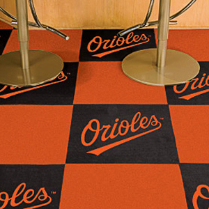 Fan Mats MLB Baltimore Orioles Carpet Tiles