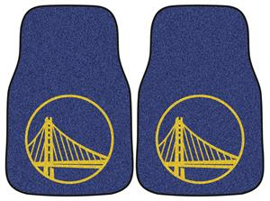 Fan Mats Golden State Warriors Carpet Car Mats