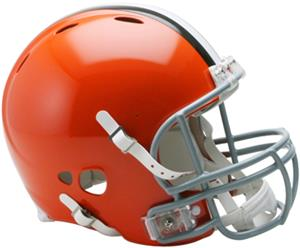 NFL Browns On-Field Full Size Helmet (Revolution)