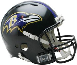 NFL Ravens On-Field Full Size Helmet (Revolution)