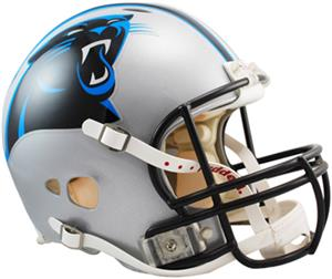 NFL Panthers On-Field Full Size Helmet -Revolution