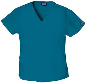Cherokee Women's Mini Mock Wrap Scrub Tops