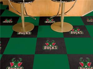 Fan Mats NBA Milwaukee Bucks Carpet Tiles