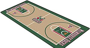Fan Mats Milwaukee Bucks NBA Court Runners