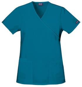 Cherokee Women's Mock Wrap Scrub Tunic