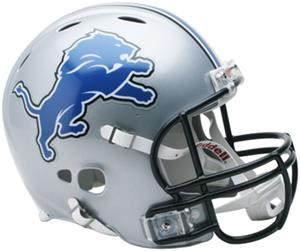 NFL Lions On-Field Full Size Helmet (Revolution)
