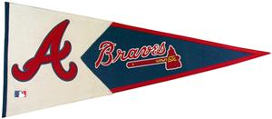 Winning Streak MLB Atlanta Braves Classic Pennant