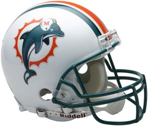 NFL Dolphins On-Field Full Size Helmet (VSR4)