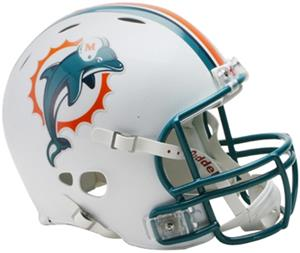 NFL Dolphins On-Field Full Size Helmet -Revolution