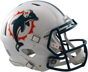 NFL Dolphins On-Field Full Size Helmet (Speed)