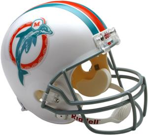 NFL Dolphins (73-79) Replica Full Size Helmet (TB)