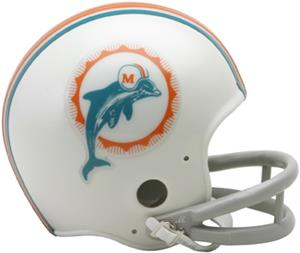 NFL Dolphins (1972) Mini Replica Helmet -Throwback