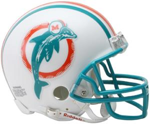 NFL Dolphins (80-96) Mini Replica Helmet Throwback